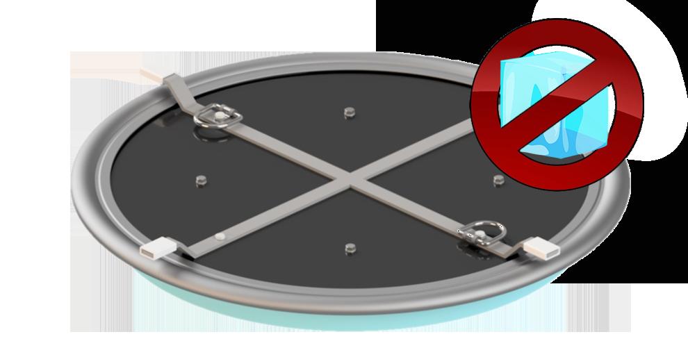 Uni-Iceless  Frostschutzsystem-System für Revisionsschächte und Armaturenschächte