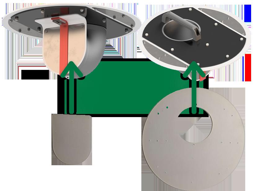 Ersatzteil-Set für Geruchsverschluss-System  GVS 450-150 (Silikon)