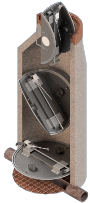 Geruchsdämpfungs-System FVA-4 DN1000