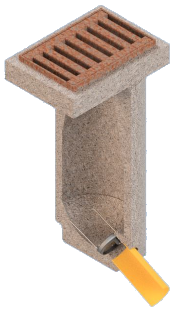 Geruchsverschluss-System GVS-K3-R DN150