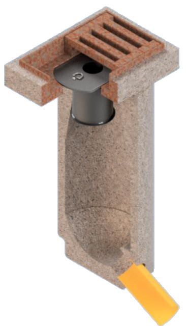 Geruchsverschluss-System  für Straßenabläufe / Sinkkästen GVS-D1